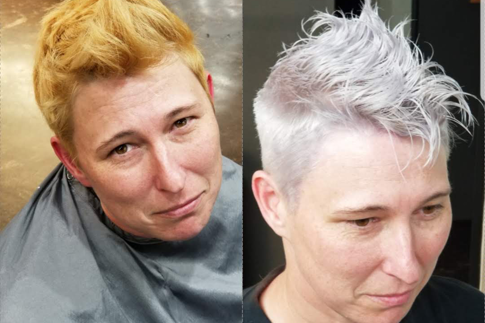 Before & after Color and Cut