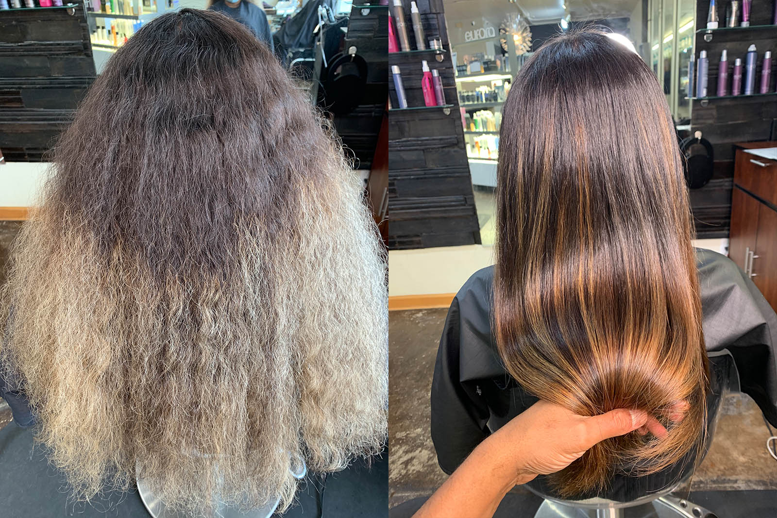 Before & After Color, Cut and Smoothing