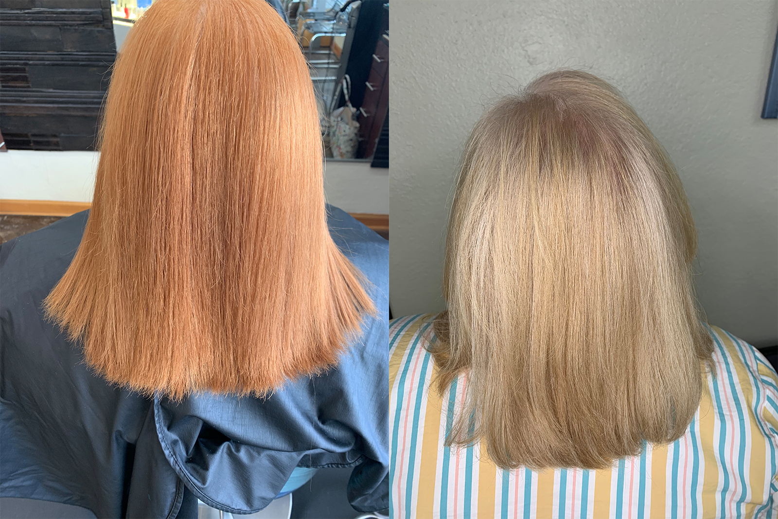 Before and After Women's Color and Cut